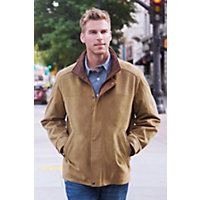 Men's Denver English Lambskin Leather Jacket, Sycamore, Size 38 Western & Country
