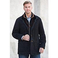 Men's Overland Highlands Sueded Shearling Sheepskin Coat, Black, Size 40 Western & Country