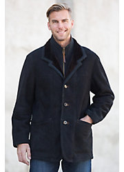 Men's Overland Highlands Sueded Shearling Sheepskin Coat