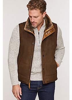 Men's Go Forth Forest Shearling Sheepskin Vest
