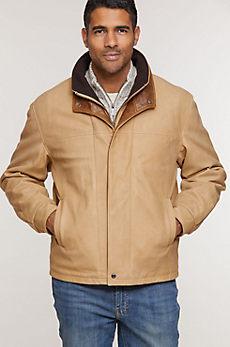 Romano Italian Calfskin Leather Jacket - Tall (40L - 46L)