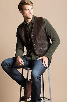 Zac Kildare Goatskin Leather Vest