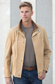 Newsboy II Calfskin Leather Jacket