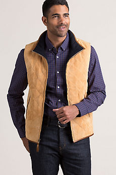 Courchevel Lambskin Suede Leather Vest