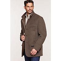 Image of Albatross Alpaca & Wool Blazer with Leather Trim