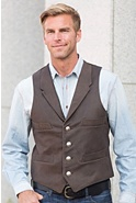 Men's Travis 4-Pocket Cowhide Leather Vest