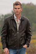 Men's Andrew Marc Alex Lambskin Leather Jacket