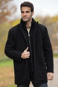 Men's Andrew Marc Wiley Wool-Blend Coat
