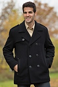 Men's Andrew Marc Nick Wool-Blend Pea Coat