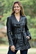 Women's Andrew Marc Trance Lambskin Leather Jacket
