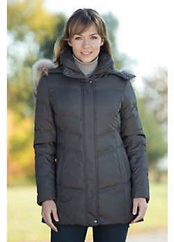 Women's Andrew Marc Missile Down Jacket with Coyote Fur Trim