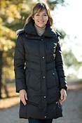 Women's Andrew Marc Mercy Down Coat with Coyote Fur Trim