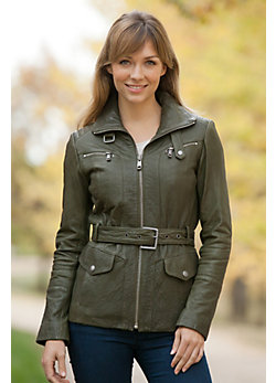 Women's Andrew Marc Slone Lambskin Leather Jacket