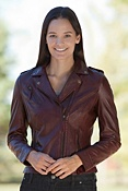 Women's Bree Lambskin Leather Motorcycle Jacket