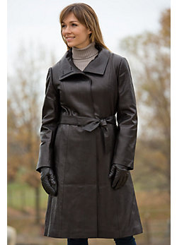 Women's Cameron Lambskin Leather Trench Coat