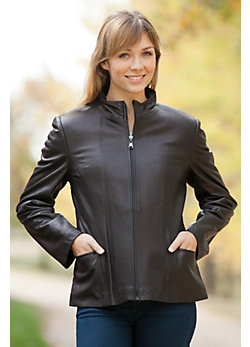 Women's Gabbie Lambskin Leather Jacket