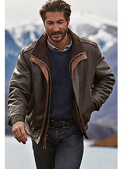 Men's Avenger Lambskin Leather Jacket