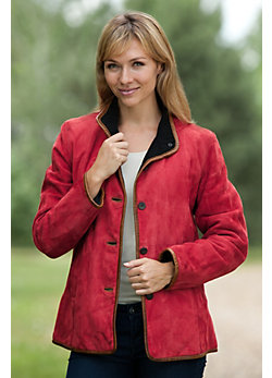 Women's Julie Lamb Suede Jacket