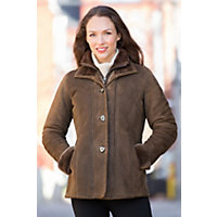 Women's Forest Vienna Shearling Sheepskin Coat, Black Forest (Deep Brown), Size 12 Western & Country
