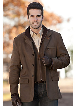Men's Montreaux French Lambskin Leather Blazer