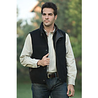Men's Traveler Cashmere-Blend Wool Vest, Black, Size 42 Western & Country