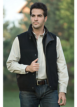 Men's Traveler Cashmere-Blend Wool Vest