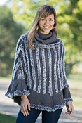 Women's Alexandra Rabbit Fur Poncho