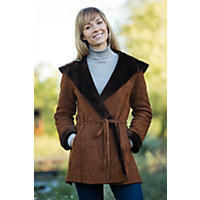 Women's Flora Shearling Sheepskin Coat, Sandal, Size Large (12-14) Western & Country