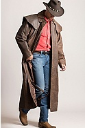 Montgomery Lambskin Leather Duster with Cape