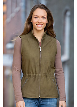 Women's Diana Anorak Lambskin Leather Vest