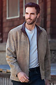 Men's Saratoga Distressed Lambskin Leather Jacket