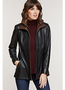Women's Rory Lambskin Leather Pant Coat