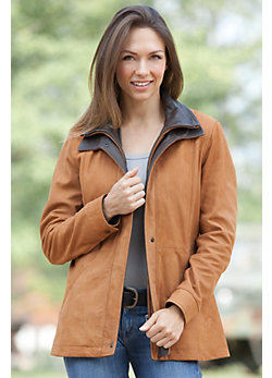Women's Zanna Lambskin Leather Coat