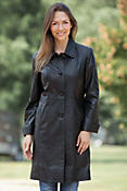 Women's Odelia Lambskin Leather Trench Coat