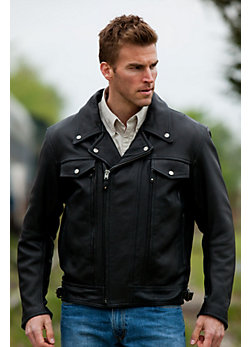 Men's Ryder Cowhide Leather Motorcycle Jacket