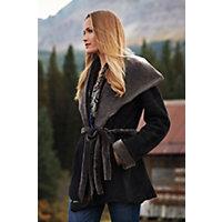 Women's Betty Shearling Sheepskin Coat, Black Briesa, Size Medium (10-12) Western & Country