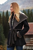 Women's Betty Shearling Sheepskin Coat