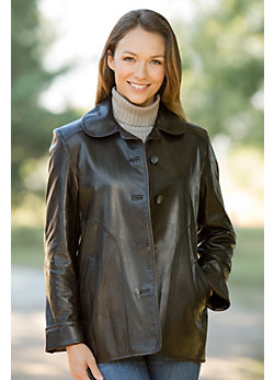 Charlene Spanish Lambskin Leather Jacket