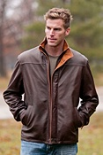 Men's Bourne Lambskin Leather Jacket