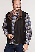 Men's Falcon Buffed Lambskin Leather Vest