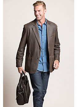 Men's Beaumont Patina Lambskin Leather Blazer