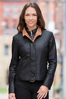 Ricki Lambskin Leather Jacket