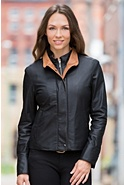 Women's Ricki Lambskin Leather Jacket