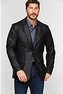 Men's Coltrane Lambskin Leather Blazer