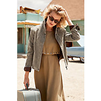 Women's Rita Distressed Lambskin Leather Bomber Jacket, Diego / Rustic, Size Xlarge (16) Western & Country