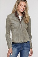Women's Rita Distressed Lambskin Leather Bomber Jacket