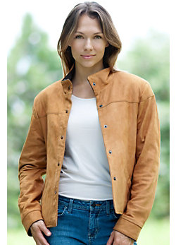 Women's Ranger Snap-Front Lambskin Leather Jacket
