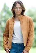 Ranger Snap-Front Lambskin Leather Jacket