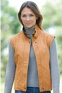 Women's Maceo Lambskin Leather Vest