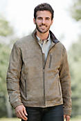 Men's Dixon Distressed Lambskin Leather Bomber Jacket
